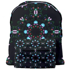 Embroidery Paisley Black Giant Full Print Backpack