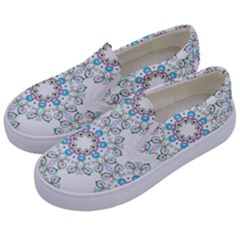 Embroidery Paisley Kids  Canvas Slip Ons by snowwhitegirl