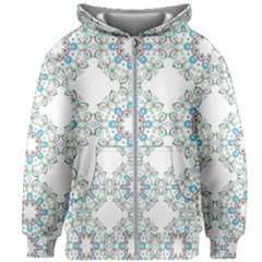 Embroidery Paisley Kids Zipper Hoodie Without Drawstring