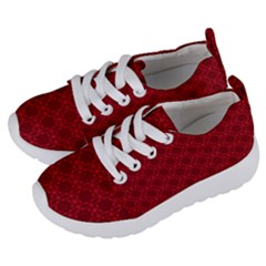 Victorian Paisley Red Kids  Lightweight Sports Shoes by snowwhitegirl
