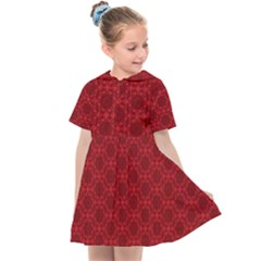 Victorian Paisley Red Kids  Sailor Dress