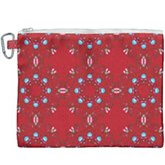 Embroidery Paisley Red Canvas Cosmetic Bag (xxxl) by snowwhitegirl