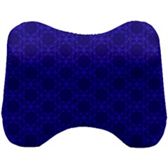 Victorian Paisley Royal Blue Pattern Head Support Cushion