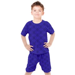 Victorian Paisley Royal Blue Pattern Kid s Set