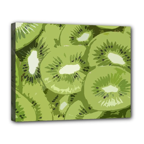 Kiwis Canvas 14  X 11  (stretched)