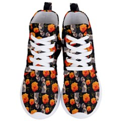 Girl With Roses And Anchors Black Women s Lightweight High Top Sneakers