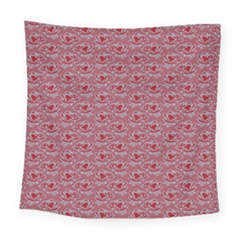 Retro Red Pattern Square Tapestry (large) by snowwhitegirl