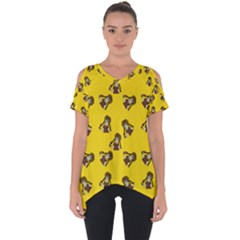 Girl With Popsicle Yello Cut Out Side Drop Tee by snowwhitegirl