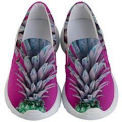 Green Pineapple Kid s Lightweight Slip Ons by snowwhitegirl