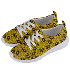 Girl With Popsicle Yellow Floral Women s Lightweight Sports Shoes by snowwhitegirl