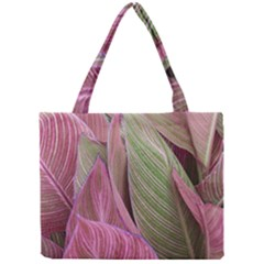 Pink Leaves Mini Tote Bag by snowwhitegirl