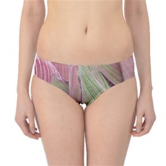 Pink Leaves Hipster Bikini Bottoms by snowwhitegirl