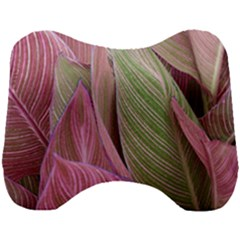 Pink Leaves Head Support Cushion by snowwhitegirl
