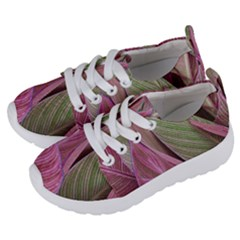 Pink Leaves Kids  Lightweight Sports Shoes by snowwhitegirl
