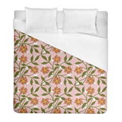 Pink Dot Floral Duvet Cover (full/ Double Size) by snowwhitegirl