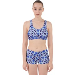 Blue Dot Floral Work It Out Gym Set