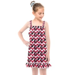 Vintage Camera Chevron Kids  Overall Dress