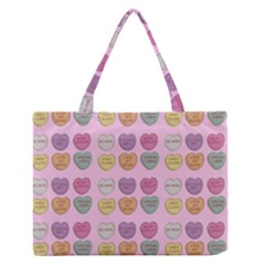 Valentine Hearts Pink Zipper Medium Tote Bag by snowwhitegirl