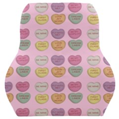 Valentine Hearts Pink Car Seat Back Cushion