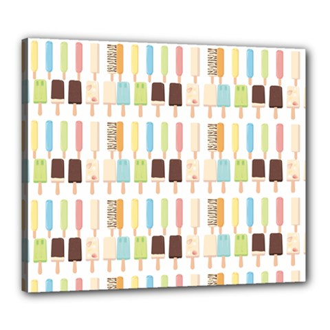 Candy Popsicles White Canvas 24  X 20  (stretched) by snowwhitegirl