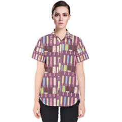 Candy Popsicles Purple Women s Short Sleeve Shirt