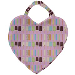 Candy Popsicles Pink Giant Heart Shaped Tote by snowwhitegirl