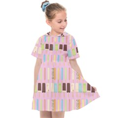 Candy Popsicles Pink Kids  Sailor Dress