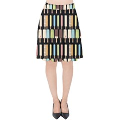 Candy Popsicles Black Velvet High Waist Skirt by snowwhitegirl