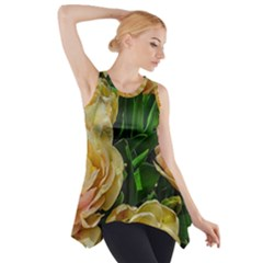 Early Summer Flowers Side Drop Tank Tunic by bloomingvinedesign