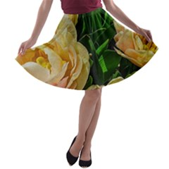 Early Summer Flowers A Line Skater Skirt by bloomingvinedesign