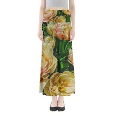 Early Summer Flowers Full Length Maxi Skirt by bloomingvinedesign