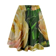 Early Summer Flowers High Waist Skirt by bloomingvinedesign