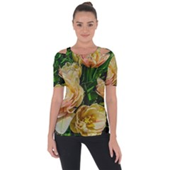 Early Summer Flowers Shoulder Cut Out Short Sleeve Top by bloomingvinedesign