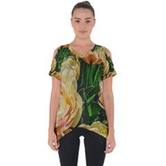 Early Summer Flowers Cut Out Side Drop Tee by bloomingvinedesign