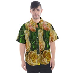 Early Summer Flowers Men s Short Sleeve Shirt by bloomingvinedesign