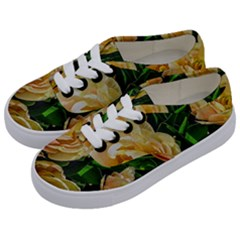 Early Summer Flowers Kids  Classic Low Top Sneakers by bloomingvinedesign