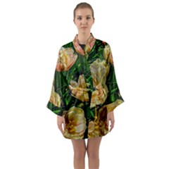 Early Summer Flowers Long Sleeve Kimono Robe by bloomingvinedesign