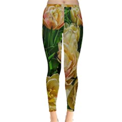 Early Summer Flowers Inside Out Leggings by bloomingvinedesign