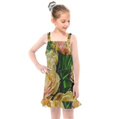 Early Summer Flowers Kids  Overall Dress by bloomingvinedesign