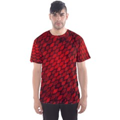 Red Dragon Scales Men s Sports Mesh Tee by bloomingvinedesign