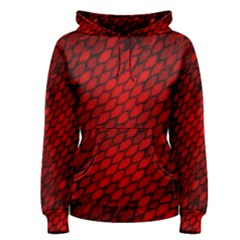 Red Dragon Scales Women s Pullover Hoodie by bloomingvinedesign