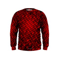 Red Dragon Scales Kids  Sweatshirt by bloomingvinedesign