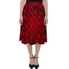 Red Dragon Scales Classic Midi Skirt by bloomingvinedesign