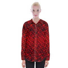 Red Dragon Scales Womens Long Sleeve Shirt by bloomingvinedesign