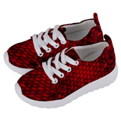 Red Dragon Scales Kids  Lightweight Sports Shoes by bloomingvinedesign