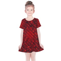 Red Dragon Scales Kids  Simple Cotton Dress