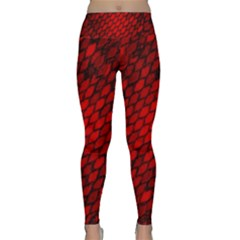 Red Dragon Scales Lightweight Velour Classic Yoga Leggings