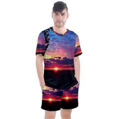 Sunrise Lakeshore Men s Mesh Tee And Shorts Set
