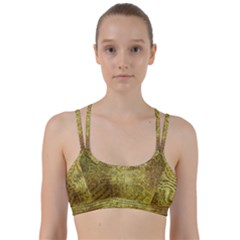 Golden Dragon Scales Pattern Line Them Up Sports Bra