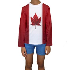 Canada Flag Bathing Suits Kids  Long Sleeve Swimwear by CanadaSouvenirs